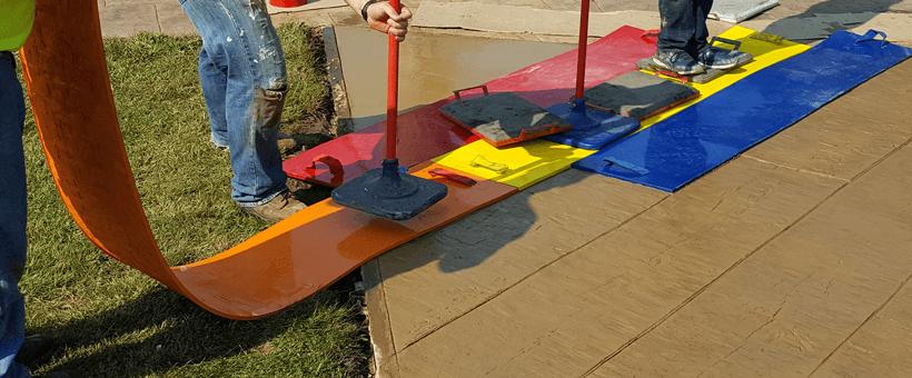amprentarea betonului cu matrite