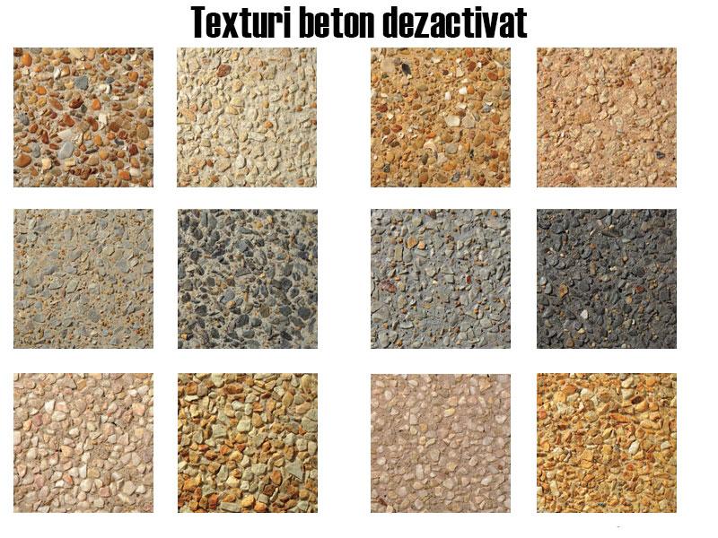 Texturi beton dezactivat