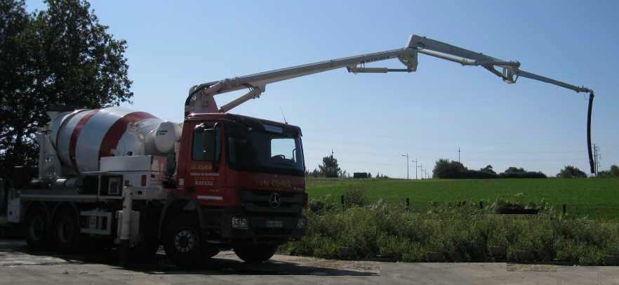 turnarea betonului din pompa