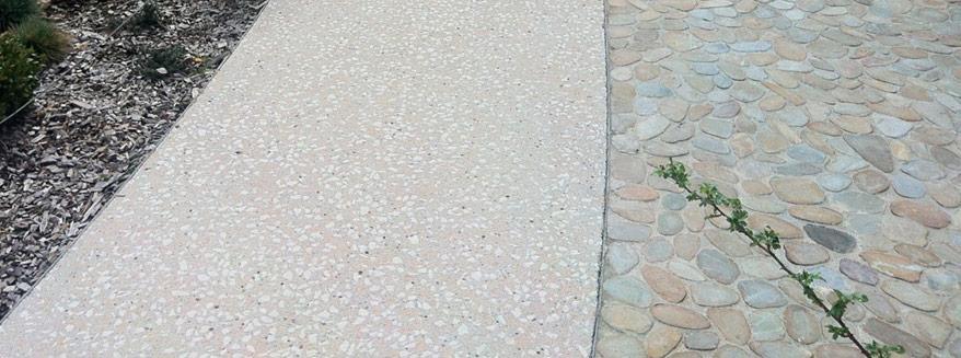 alei beton slefuit exterior