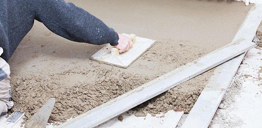sapa semiumeda din beton