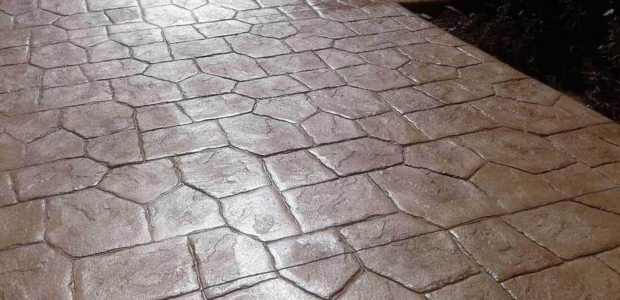 pavaj din beton amprentat in Pitesti, Arges